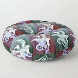 Calla Lilies Graphic Illustration In Pastel Colors Floor Pillow