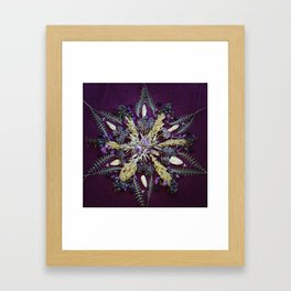 Nature Mandala: September Framed Art Print