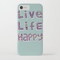 snorlax iPhone & iPod Cases featuring Live Life Happy Poster by koppen Code