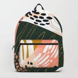 Brushstrokes abstract art III Backpack