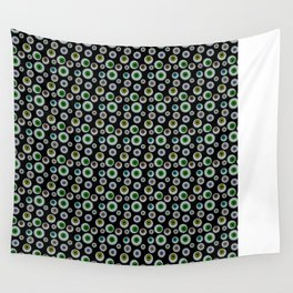 I Only Have Eyes for You (on Designer Black Background)  Wall Tapestry