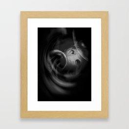 Abstract - Black and White Framed Art Print