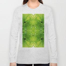 508 - Abstract Fern Design Long Sleeve T-shirt