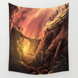 The Trenches of World War One (WW1) Wall Tapestry