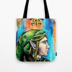 Link from the Legend of Zelda Painting. The Proud Hyrulian Warrior. Tote Bag