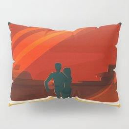 SpaceX Mars tourism poster Pillow Sham