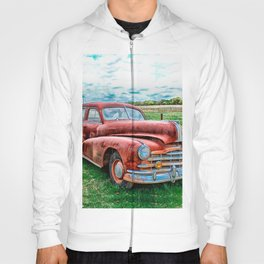 Oldsters Classic Car Vintage Automobile Old Rusty Hoody