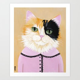 Portrait of Marie the Calico Cat Art Print