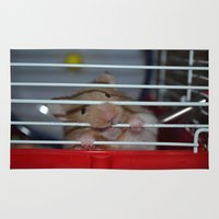 messi Area & Throw Rugs featuring Hamster Chew by lauraflores013