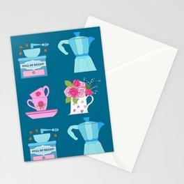 Coffee Christmas Espresso, moka, coffee pot, tea cups, coffee, china, plates, cups, kitchen, vintage Stationery Cards