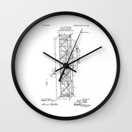 Wright Brothers Patent: Flying Machine Wall Clock