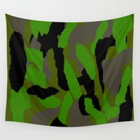 camouflage Wall Tapestries featuring Camouflage by Justbyjulie