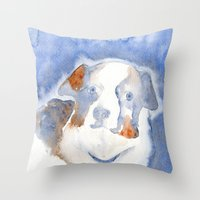 belle Throw Pillows featuring Belle by KAZUMI