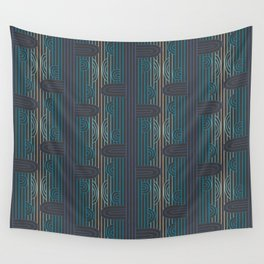 art deco stripe Wall Tapestry