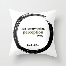 Inspirational Quote About Reality Throw Pillow