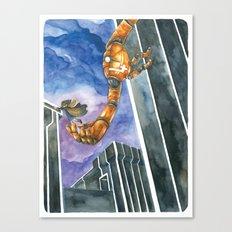 Moonbot #4: Orange Canvas Print