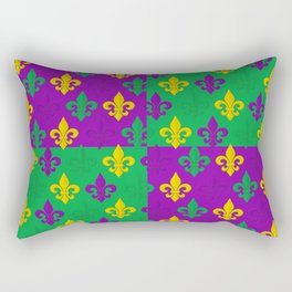 Mardi Gras Fleur-de-Lis Pattern Rectangular Pillow