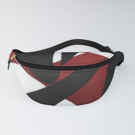 Fusion-Red, Black, White & (*Blue) Fanny Pack
