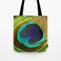 feathers Tote Bags featuring feathers by mark ashkenazi