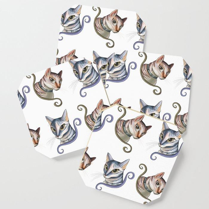 Cats love pattern Coaster