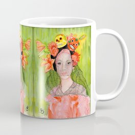 Maria with a Skull and Flower hairpiece Coffee Mug