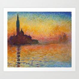 Claude Monet – Saint georges majeur au crépuscule San Giorgio Maggiore by Twilight Art Print