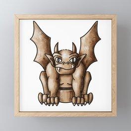 Gargoyle Framed Mini Art Print