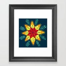 Folk Star Framed Art Print