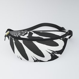 The Modern Flower Black & White Fanny Pack