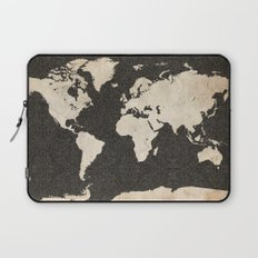 World Map - Ink lines Laptop Sleeve