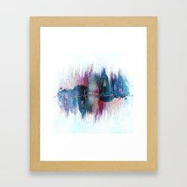 Heartbeat Drama Framed Art Print