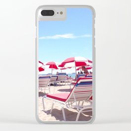 South Beach Umbrellas Clear iPhone Case