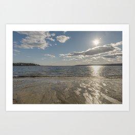 Cold Beach Day Art Print