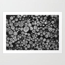 Pile of wood Art Print