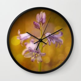 There were lots of them.... this time in bokeh bubbles Wall Clock