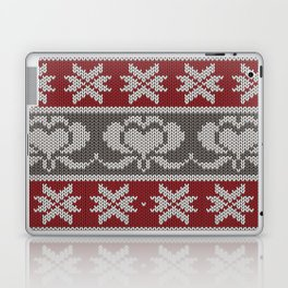 Ugly knitted Hearts Laptop & iPad Skin