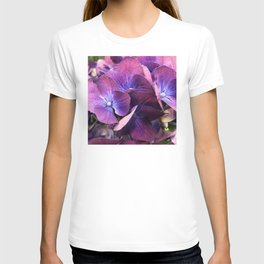 Exotic Flowers in Pink, Purple and Magenta Colors T-shirt