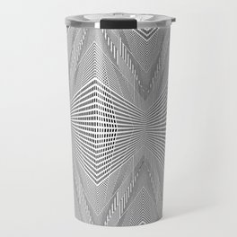 Geometric 3 D Architecture Repeat Travel Mug