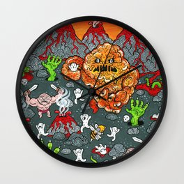 Volcano Lands Wall Clock