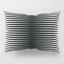 op art - horizontal triangles Pillow Sham