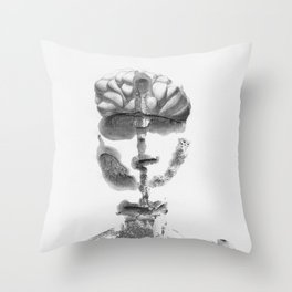 Portrait Monotype Throw Pillow