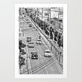 Okinawa City Streets Art Print