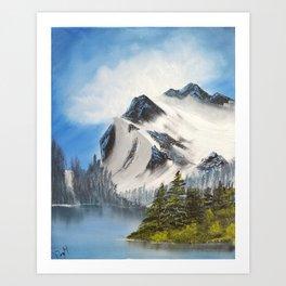 Glacial Peaks Art Print