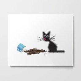 Buzzed {The Naughty Kitten} Metal Print