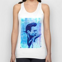 johnny cash Tank Tops featuring Johnny Cash by Jason Hughes