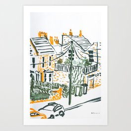 Across the road #4 -London urban illustration Art Print