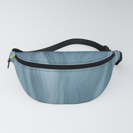 Marblesque Blue 2 - Abstract Art Marble Series Fanny Pack