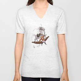 Whipping the Angry Toy Horse Unisex V-Neck