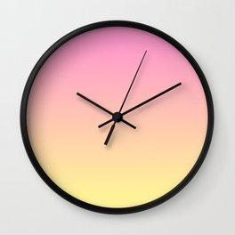 Rose Quartz and Citrine Wall Clock