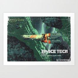 space Tech Bi-Monthley Art Print